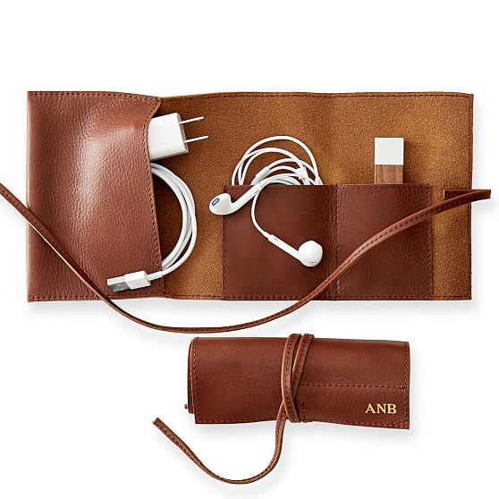 leather charger roll up neutrals c